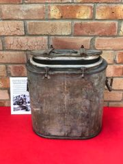German Essentrager hot food rations container dated 1941 on the lid Found on a Farm outside Mons left over from the surrender by the Germans in the Mons pocket in September 1944