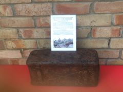 German metal carry crate for 10.5CM LEFH 18 field howitzer the box which held 3 cartridges recovered from Death Valley near Hill 112 the battle in the Falaise Pocket on the Normandy battlefield of 1944