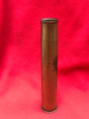 German 3.7cm anti-tank gun brass shell case very nice condition with all markings dated 1936 and waffen stamped found in Dunkirk 1940 German invasion
