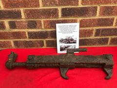 German metal chain tightener used on flat bed railway carriages when they transported tanks on trains recovered from the Normandy battlefield of 1944