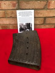 German 20mm Flak 30/38 Anti-Aircraft gun magazine very nice condition relic,original colour,dated 1939 of the Panzer Lehr division recovered near Rochefort in the Ardennes Forest from the battle of the Bulge