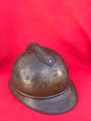 Belgium soldiers M15 Adrian helmet semi-relic condition missing its badge, original paintwork found on the Ypres battlefield in Belgium 1914-1918