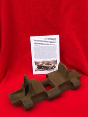 Track Link from British valentine Tank on lend lease to the Russian Army recovered from a tank destroyed in the battle at Wolomin which was the largest Tank battle in Poland fought August 1944