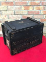 German flare gun wooden ammunition crate dated 1943,waffen stamped and nice condition,paper label found in Normandy 1944 battlefield