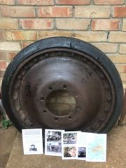 Wheel with original paintwork,fantastic condition from German Panther Tank of the 116th Panzer Division recovered from near Houffalize in the Ardennes Forest from 1944-1945 winter battle