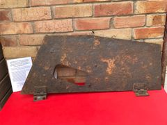 Armoured shutter from side window of Russian SU57 halftrack [us M3 lend lease] recovered from the battlefield at Wolomin which was the largest Tank battle in Poland in 1944
