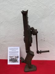 German halftrack lifting jack ,working,nice condition relic with paintwork recovered from Death Valley near Hill 112 from the battle in the Falaise Pocket on the Normandy battlefield of 1944