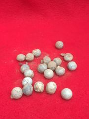 Group of around Artillery 20 shrapnel balls all recovered in 2018 while British Tank was recovered from Pozieres on the 1916 Somme battlefield