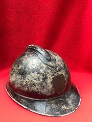 Belgium army officers aluminium made M26/31 helmet with black paintwork,missing its badge and liner found in Ghent in Belgium