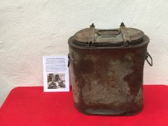 German Essentrager hot food and soup container used post war on a Farm in the Hurtgen Forest on the German-Belgium border the battle from September to December 1944