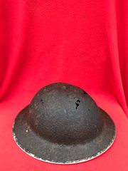British or Canadian soldiers 1938 pattern mark 2 brodie helmet with badge remains,solid relic condition recovered in 2017 from Juno beach area of the D-Day landings in Normandy June 1944
