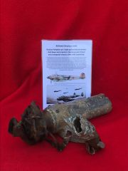 Airframe structure joint with electrical wiring from Russian Petlyakov pe-2 ground attack bomber shot down and crashed in the Demyansk Pocket near Leningrad in Russia 1941-1942