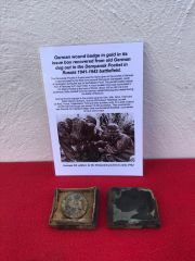 German wound badge in Gold in its issue box,fantastic condition and very rare relic recovered from the Demyansk Pocket Battlefield in Russia 1941-1942 battlefield