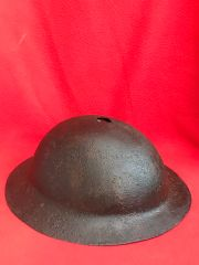 1st Pattern Brodie Helmet US soldiers rare camouflage paintwork, relic condition,very solid, no liner recovered from Le Hamel July 1918 battle on the Somme