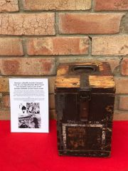 German Luftwaffe wooden transport case for one Signalbombe Blitz the box Found near Dunkirk from a German airfield in the area