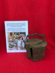 German MG42 machine gun ammunition drum,nice condition recovered from Defensive Tobruk near Mairle de Pleurtuit fought in August 1944 during allied advance from Normandy with dig photos in 2016