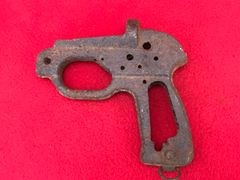 German LP-42 Signal Flare Pistol handle section recovered from the area where the German 30th infantry division fought near Tilti in the Kurland Pocket the battlefield of 1944-1945