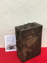 German 20mm Flak 30/38 Anti-aircraft gun magazine box which is very nice condition relic,dated 1942,waffen stamped recovered from a Lake South of Berlin in the area the 9th Army fought,surrendered in April 1945 in battle of Berlin