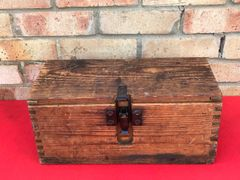 German wooden crate for captured French artillery gun shell heads,nice condition found in Belgium from the 1944-1945 battles around the border