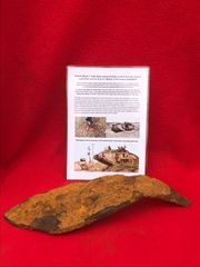 Blown section of 8mm armour plate ripped from roof,underbelly recovered from British Mark 5 Tank destroyed during the Battle of Le Hamel on the 4th July 1918,Australian and American offensive on the Somme battlefield
