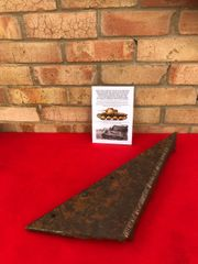 22mm armour plate from the rear of the turret attached to 8mm armour plate from upper hull top with sand beige paintwork from German Panzer 38t recovered from the battle of kiev in 1941 in Ukraine