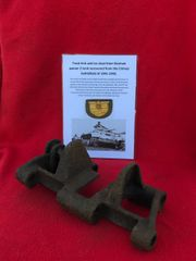 Track link with ice cleat from German Panzer 2 Tank nice solid relic recovered from the Crimea battlefield of 1941-1942