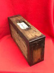 Very Rare 1st Pattern German Maxim machine gun wooden ammunition box nice condition found on the Somme battlefield of 1916-1918