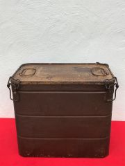 Rare German fallschirmjager single parachute storage box,very nice condition with original paintwork and markings found in the Le Havre area of France