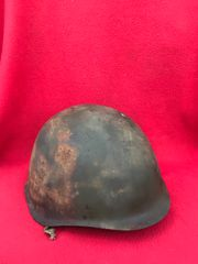 Russian Soldiers SSH40 helmet very nice condition,green paintwork recovered from Danzig 1945 battlefield in Germany