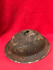 British or Canadian soldiers 1938 pattern mark 2 brodie helmet dated 1938,solid relic condition recovered in 2017 from Juno beach area of the D-Day landings in Normandy June 1944