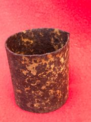 Russian RGD-33 stick grenade outer sleeve in relic condition with paintwork recovered from the 1942-1943 battlefield in Stalingrad, Russia