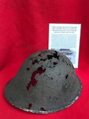 21st Army group Soldiers mark 3-1944 pattern,turtle helmet recovered from the Reichswald Forest part of the Siegfried Line the battle fought between 8th February to 11th March 1945 in Germany