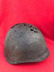 Russian Soldiers SSH40 helmet,solid relic recovered from the battlefield at Wolomin which was the largest Tank battle in Poland in 1944