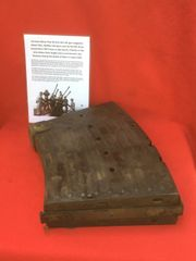 German 20mm Flak 38 Anti-Aircraft gun magazine fantastic condition battlefield find,Waffen Stamped,1941 dated recovered from a Lake South of Berlin in the area the 9th Army fought,surrendered in April 1945