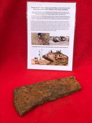 Blown section 12mm armour plate ripped from side armour recovered from British Mark 5 Tank destroyed during the Battle of Le Hamel on the 4th July 1918,Australian and American offensive on the Somme battlefield