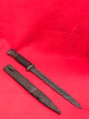 German soldiers K98 rifle bayonet in its scabbard recovered from the area of the Gothic Line near Bologna in Italy 1944-1945