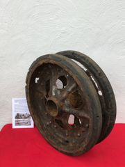 Double track wheel from German SDKFZ 11 halftrack recovered from Priekule in the Kurland pocket defended by the SS Nordland Division during the battle in 1944-1945