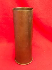 Czechoslovakia 8cm Skoda VZ 30 howitzer brass case dated 1935 captured and used by the Germans as 8cm F K [30]t on the Atlantic Wall found in Ostend,Belgium