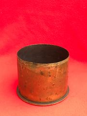 German cartridge case separated propelling charge for 10.5cm Field howitzer the case is dated February 1917 found on the Somme battlefield
