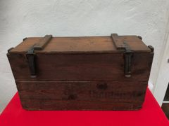 German stick grenade carry box in fantastic condition with original markings found on the Somme battlefield of 1916-1918