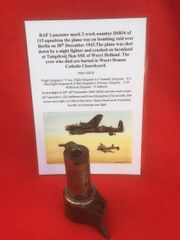 Engine piston conrod end with part number,maker marked RAF Lancaster Mark 2 DS834 shot down 30th December 1943 on Berlin raid crashed in Holland