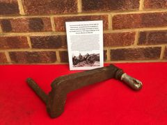 Gun breach handle from German 10.5cm LEFH 18 howitzer recovered from the battlefield at Wolomin which was the largest Tank battle in Poland in 1944