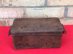 German Wanderer vehicle tool box with maker marking,relic condition found near Bastogne in the Ardennes Forest 1944-1945 battlefield