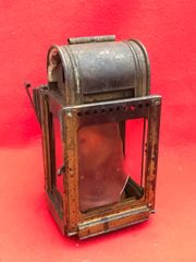German carbide Lamp nice condition,brass colour used by the Army and on trains found on brocante or fair in Brussels