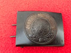 German Army soldiers belt buckle semi-relic condition very nicely cleaned,black painted finnish found in Denmark from the Occupation of 1940-1945