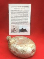 German waterbottle early style not dated recovered from U-Boat U534 which was sunk on the 5th May 1945