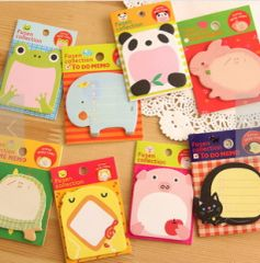 Cute animal sticky notes