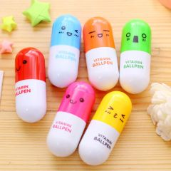 S006-Little Cute Vitamin ballpoint pen (set of 6 pcs.)