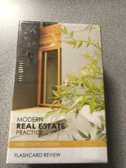 Modern Real Estate Practice Flashcards