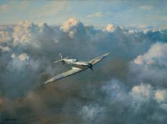 "Roy Cross Print, Spitfire, ""Flight of Freedom"" ROS-14"